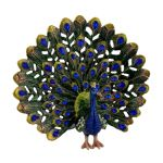 Metal Peacock Figurine Ornament Trinket 11.5 x 12.5cm